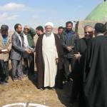 مراسم کلنگ زنی بقعه متبرکه امامزاده ادم توسط ایت الله عالمی ومسولین شهرستان